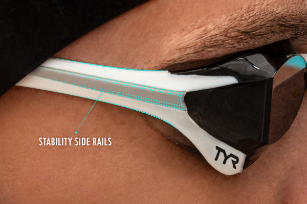 TYR Tracer-X Elite Mirrored Goggles - Stability Side Rails