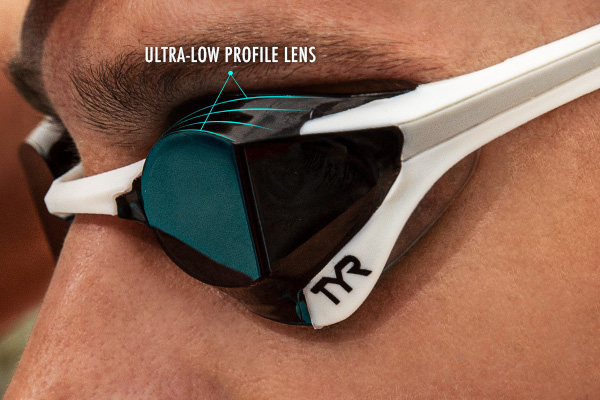TYR Tracer-X Elite Racing Adult Fit Goggle - Sculpted Ultra-Low Profile Lens
